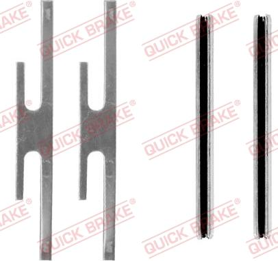 QUICK BRAKE 109-0975-1 - Piederumu komplekts, Disku bremžu uzlikas interparts.lv