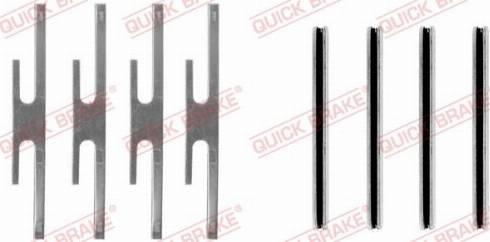 QUICK BRAKE 109-0975 - Piederumu komplekts, Disku bremžu uzlikas interparts.lv