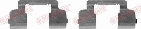 QUICK BRAKE 109-1698-1 - Piederumu komplekts, Disku bremžu uzlikas interparts.lv