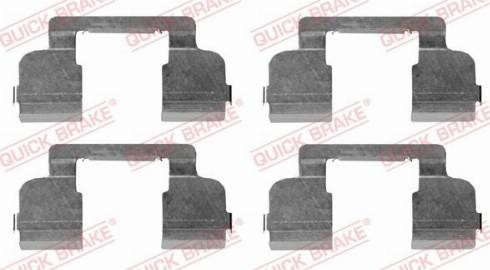 QUICK BRAKE 1091698 - Piederumu komplekts, Disku bremžu uzlikas interparts.lv