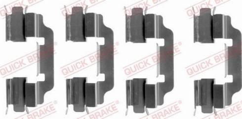 QUICK BRAKE 1091601 - Piederumu komplekts, Disku bremžu uzlikas interparts.lv