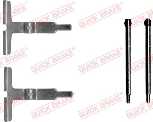 QUICK BRAKE 1091602 - Piederumu komplekts, Disku bremžu uzlikas interparts.lv