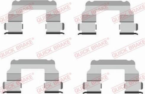 QUICK BRAKE 1091689 - Piederumu komplekts, Disku bremžu uzlikas interparts.lv