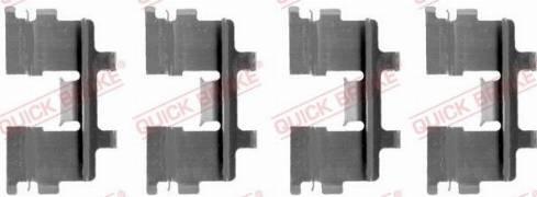 QUICK BRAKE 1091015 - Piederumu komplekts, Disku bremžu uzlikas interparts.lv