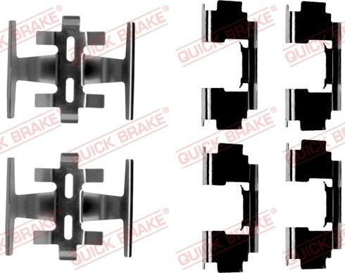 QUICK BRAKE 109-1088 - Piederumu komplekts, Disku bremžu uzlikas interparts.lv