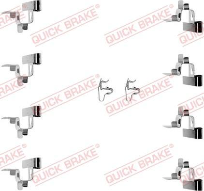 QUICK BRAKE 1091191 - Piederumu komplekts, Disku bremžu uzlikas interparts.lv