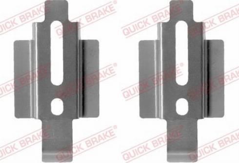 QUICK BRAKE 1091178 - Piederumu komplekts, Disku bremžu uzlikas interparts.lv
