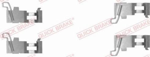 QUICK BRAKE 109-1226-1 - Piederumu komplekts, Disku bremžu uzlikas interparts.lv