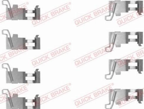 QUICK BRAKE 1091226 - Piederumu komplekts, Disku bremžu uzlikas interparts.lv