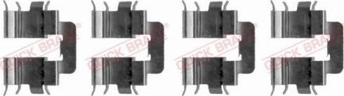 QUICK BRAKE 1091277 - Piederumu komplekts, Disku bremžu uzlikas interparts.lv
