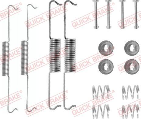QUICK BRAKE 1050521 - Piederumu komplekts, Bremžu loki interparts.lv