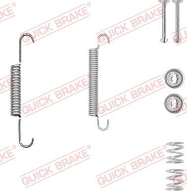 QUICK BRAKE 105-0020-1 - Piederumu komplekts, Stāvbremzes mehānisma bremžu loks interparts.lv