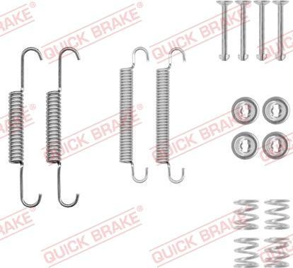 QUICK BRAKE 1050020 - Piederumu komplekts, Stāvbremzes mehānisma bremžu loks interparts.lv