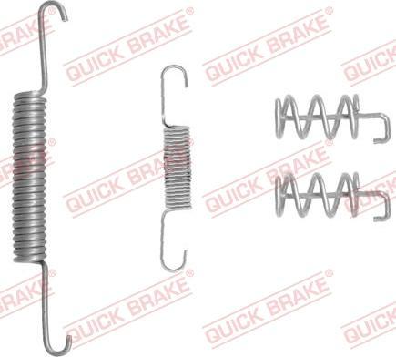 QUICK BRAKE 105-0832-1 - Piederumu komplekts, Stāvbremzes mehānisma bremžu loks interparts.lv
