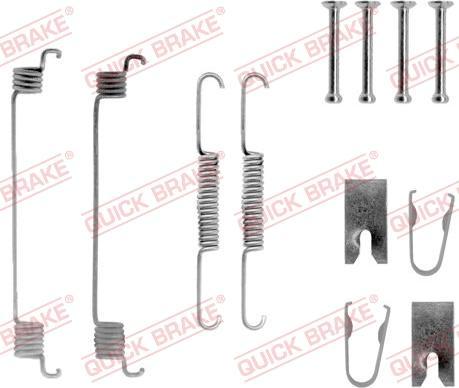QUICK BRAKE 105-0789 - Piederumu komplekts, Bremžu loki interparts.lv
