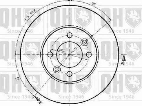 Quinton Hazell BDC4401 - Bremžu diski interparts.lv