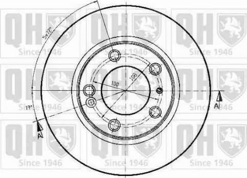 Quinton Hazell BDC4530 - Bremžu diski interparts.lv