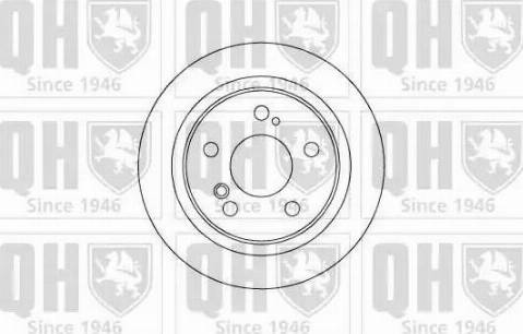 Quinton Hazell BDC4538 - Bremžu diski interparts.lv