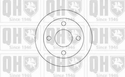 Quinton Hazell BDC4603 - Bremžu diski interparts.lv