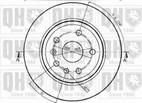 Quinton Hazell BDC4635 - Bremžu diski interparts.lv