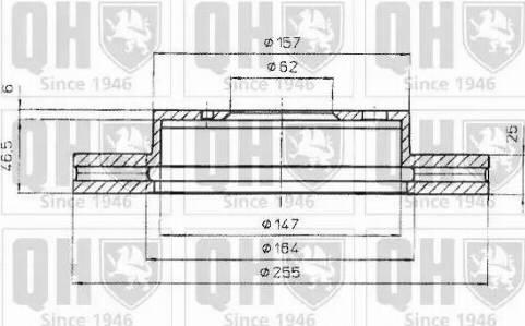 Quinton Hazell BDC4849 - Bremžu diski interparts.lv
