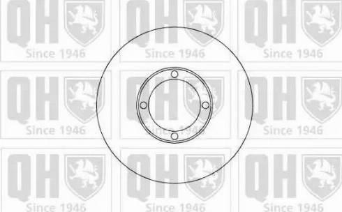 Quinton Hazell BDC4863 - Bremžu diski interparts.lv