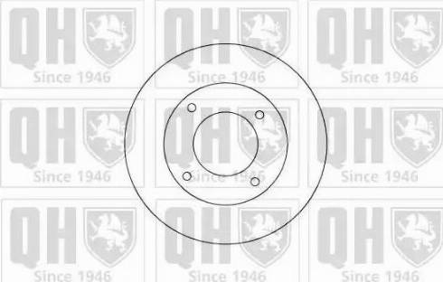 Quinton Hazell BDC4319 - Bremžu diski interparts.lv