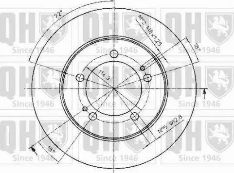 Quinton Hazell BDC4381 - Bremžu diski interparts.lv