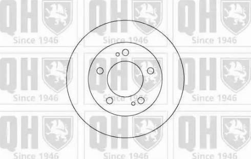 Quinton Hazell BDC5061 - Bremžu diski interparts.lv
