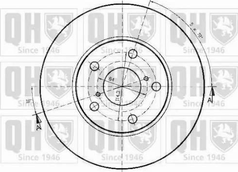 Quinton Hazell BDC5190 - Bremžu diski interparts.lv