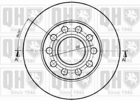 Quinton Hazell BDC5307 - Bremžu diski interparts.lv