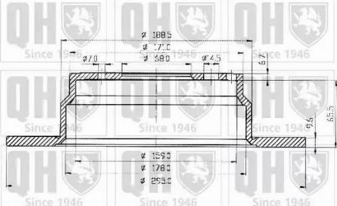 Quinton Hazell BDC3914 - Bremžu diski interparts.lv
