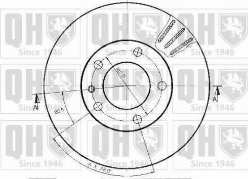 Quinton Hazell BDC3641 - Bremžu diski interparts.lv