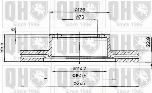 Quinton Hazell BDC3687 - Bremžu diski interparts.lv