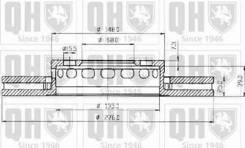Quinton Hazell BDC3635 - Bremžu diski interparts.lv
