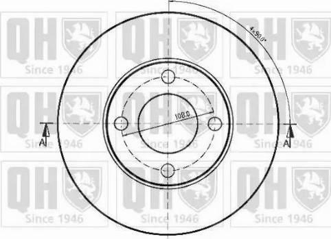 Quinton Hazell BDC3630 - Bremžu diski interparts.lv