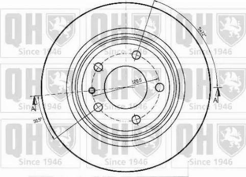 Quinton Hazell BDC3847 - Bremžu diski interparts.lv