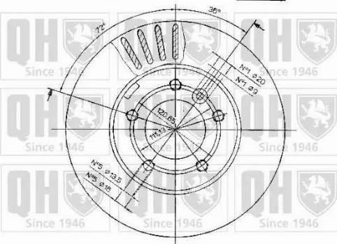 Quinton Hazell BDC3830 - Bremžu diski interparts.lv