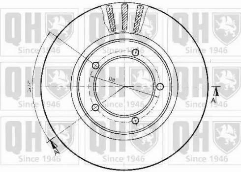 Quinton Hazell BDC3743 - Bremžu diski interparts.lv