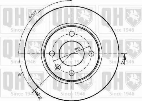 Quinton Hazell BDC3737 - Bremžu diski interparts.lv