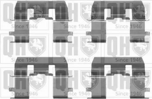 Quinton Hazell BFK909 - Piederumu komplekts, Disku bremžu uzlikas interparts.lv