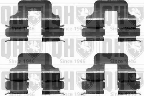 Quinton Hazell BFK902 - Piederumu komplekts, Disku bremžu uzlikas interparts.lv