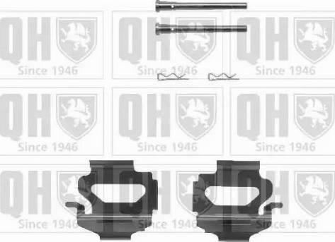 Quinton Hazell BFK640 - Piederumu komplekts, Disku bremžu uzlikas interparts.lv