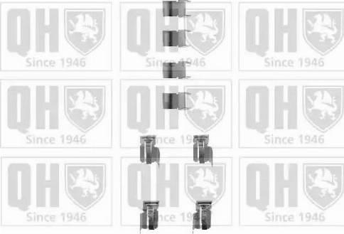 Quinton Hazell BFK686 - Piederumu komplekts, Disku bremžu uzlikas interparts.lv