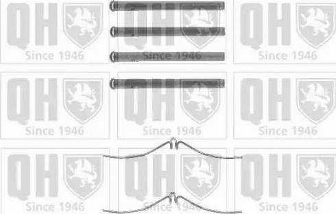 Quinton Hazell BFK687 - Piederumu komplekts, Disku bremžu uzlikas interparts.lv