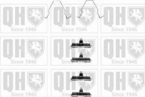 Quinton Hazell BFK844 - Piederumu komplekts, Disku bremžu uzlikas interparts.lv