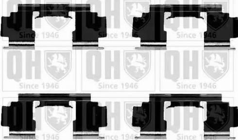 Quinton Hazell BFK866 - Piederumu komplekts, Disku bremžu uzlikas interparts.lv