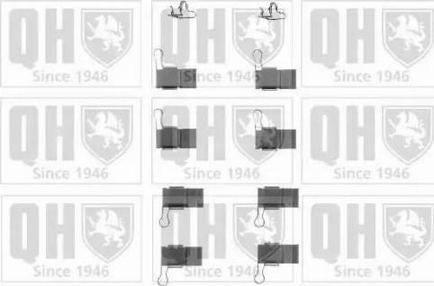 Quinton Hazell BFK800 - Piederumu komplekts, Disku bremžu uzlikas interparts.lv