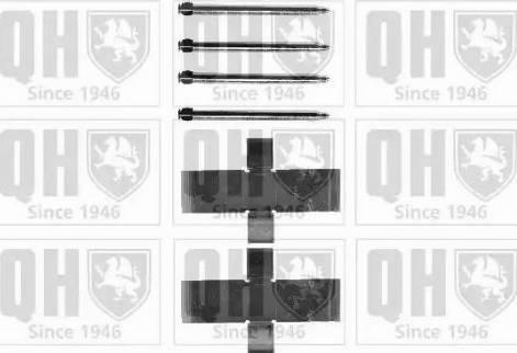 Quinton Hazell BFK818 - Piederumu komplekts, Disku bremžu uzlikas interparts.lv