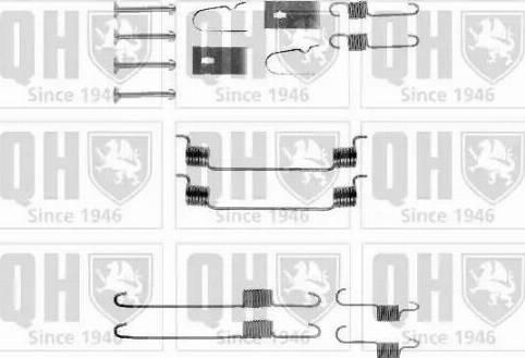 Quinton Hazell BFK355 - Piederumu komplekts, Bremžu loki interparts.lv